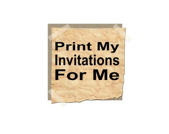 Add on for 10 printed invitations -Includes envelopes-