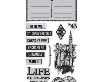 Graphic 45 CITYSCAPES 3 Cling Stamps IC0355S cc55