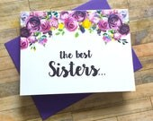 Pregnancy Announcement Card - Pregnancy Reveal to Sister - New Aunt Auntie Announcement - Having a Baby Card - I'm Pregnant Card - VIOLETS