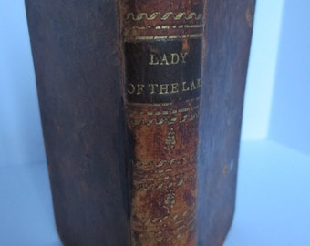 Antique Book, The Lady of the Lake, Published by D. Huntington in 1813