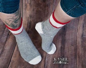 Workman - Crochet Sock Pattern - DK Sock Pattern - Classic Crochet Sock Pattern - Easy Sock Crochet Pattern - Multiple Size Crochet Socks