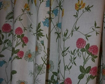 Curtains - 2 lengths - Swedish Textile Design - Summer Flower - Fabric  - Rydboholm -