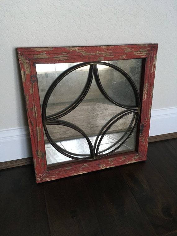 Rustic mirror wall decor : Rustic decorative wall mirror