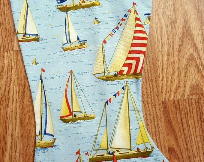 Sail Boat Christmas Stocking
