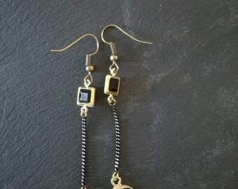 Moon gold earrings