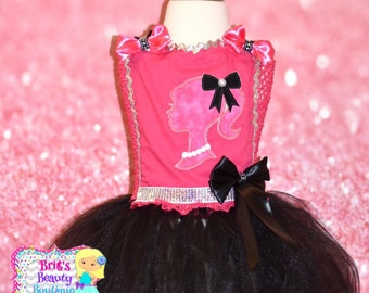 Inspired by Barbie Ribbon Trimmed Tutu Dress Costume/Pageant Wear/Photography Prop/Halloween Character Costume