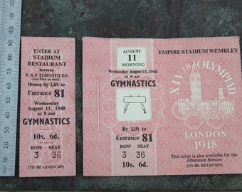 Olympic Tickets 1948