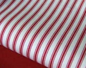 Premier Prints Home Decorator Ticking Stripe in Red