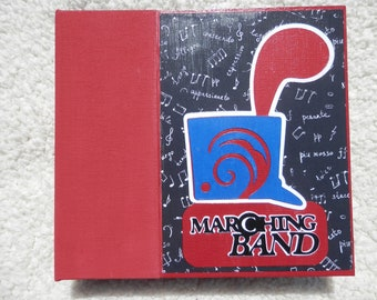 6 x 6  Marching Band Scrapbook Album