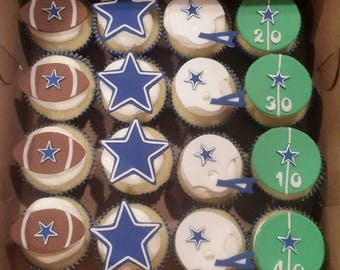 football edible cupcake toppers