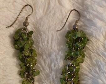 Peridot 'grape' earrings