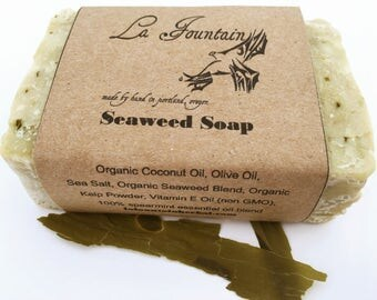 Seaweed Soap, Handmade Soap, Organic Soap