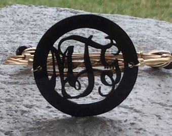 Acrylic Circle Monogram Bangle