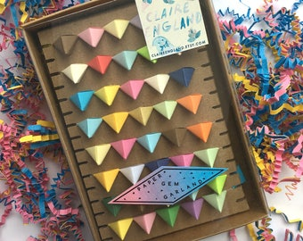 Paper Gem Garland Multicolored