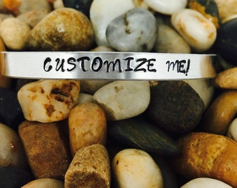 Customized hand stamped bracelet