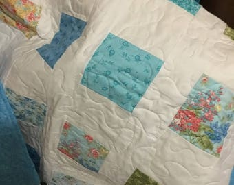 Baby Quilt - Blue
