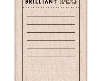 "Brilliant Ideas - Hero Arts Mounted Rubber Stamp 2.5"" x 3.5"" - Planner, Stamps, List"