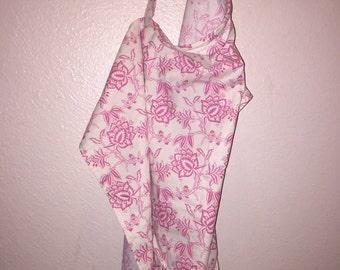 Nursing Cover / Apron - Pink & Beige Flower