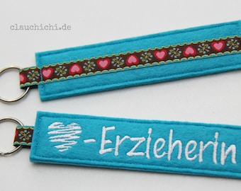 Key chain educator turquoise