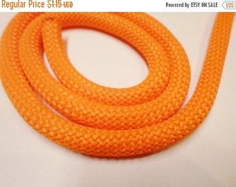 "8"" Braided 10mm Nylon Cord for Jewelry Making Craft Supplies, Orange"