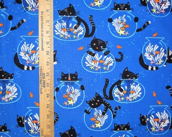 Kitty Cat Cotton Fabric! 3 Options [Choose Your Cut Size]