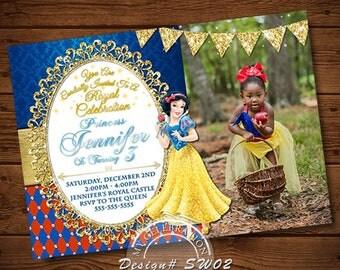 Snow White, Snow White Invitations, Seven Dwarfs, Princess Invitations, Princess Printables, Snow White Birthday Party, Snow White Pirntable