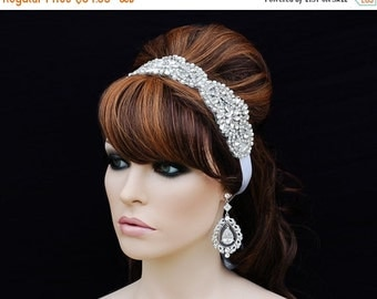 SWAROVSKI Crystal Headband , Bridal Headpiece , Bridal Hair Accessory , Wedding Headband , Bridal Headband