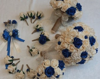Wedding vintage artificial foam and lace  flower package
