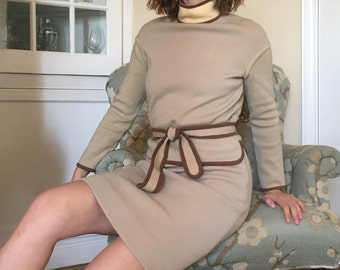 60s Wool Jackie O Skirt Suit