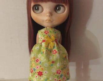 Dress for Blythe flowers on green