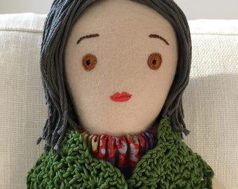 Handmade Cloth Doll, one-of-a-kind: Henrietta