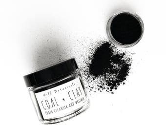 Coal and Clay Tooth Powder, Charcoal, Teeth Whitening, Cleansing Tooth Powder, Natural, Spearmint