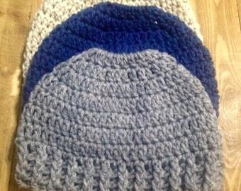Running Hat Crochet Pattern, Running Hat Pattern, Ponytail Crochet Hat Pattern, Crochet Pattern For Messy Bun Hat, Bun Hat Crochet Pattern
