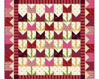 Nancy Rink It's Tulip Time Marcus Intrigue Fabric Complete Quilt Wallhanging Kit + Pattern