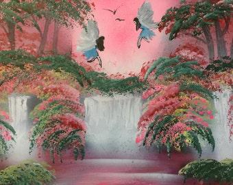 Spray Paint Art Fairies Landscape