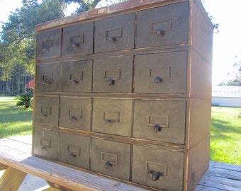 Metal cabinet,Vintage Cabinet, metal drawer,industrial dresser, storage cabinet,industrial furniture, organizer,small drawers, tool box,