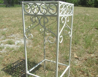 Shabby Chic Wrought Iron Plant Stand, planter, French Country, Farm House Decor, garden,