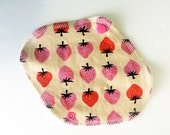 Lucy & Mabs Cotton Bamboo Wrap Style Reusable Pantyliner/Strawberries
