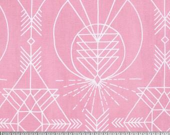 SALE Joel Dewberry Wander Native in Pink quilting cotton/ cloud Fabric Canada/ half yard