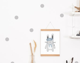 Wall decals / wall stickers 30 points of dots grey