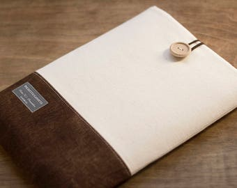 "15 inch Macbook Pro, Retina case 15"" Custom Laptop sleeve / Cream and Brown"
