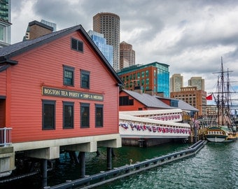 The Boston Tea Party Museum, in Boston, Massachusetts. | Photo Print, Stretched Canvas, or Metal Print.