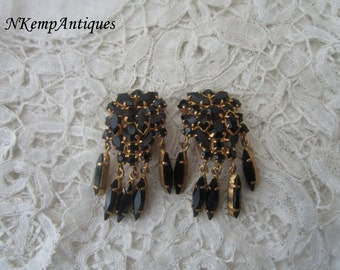 Vintage glass earrings clip ons