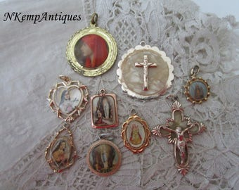 Vintage religious pendant x 9