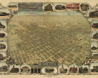 San Jose, California, 1901, Map Print