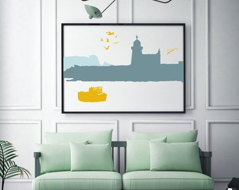Howth Lighthouse Print