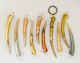 Gilded Antler Pendant/Keychain/Accessory - Half Covered