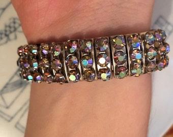 Vintage Stretch Diamanté /rhinestone crystal Bracelet - Empire made