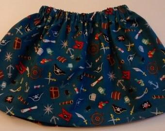 Girls pirate skirt-pirates-handmade girls skirt