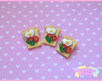 Toast brooch yummy and cute